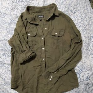 Army Green Express button down